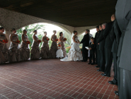 Wedding Ceremony at Laube Hall in Freeport