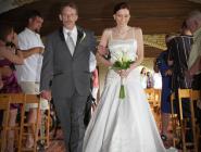 Wedding Ceremony at Laube Hall in Freeport